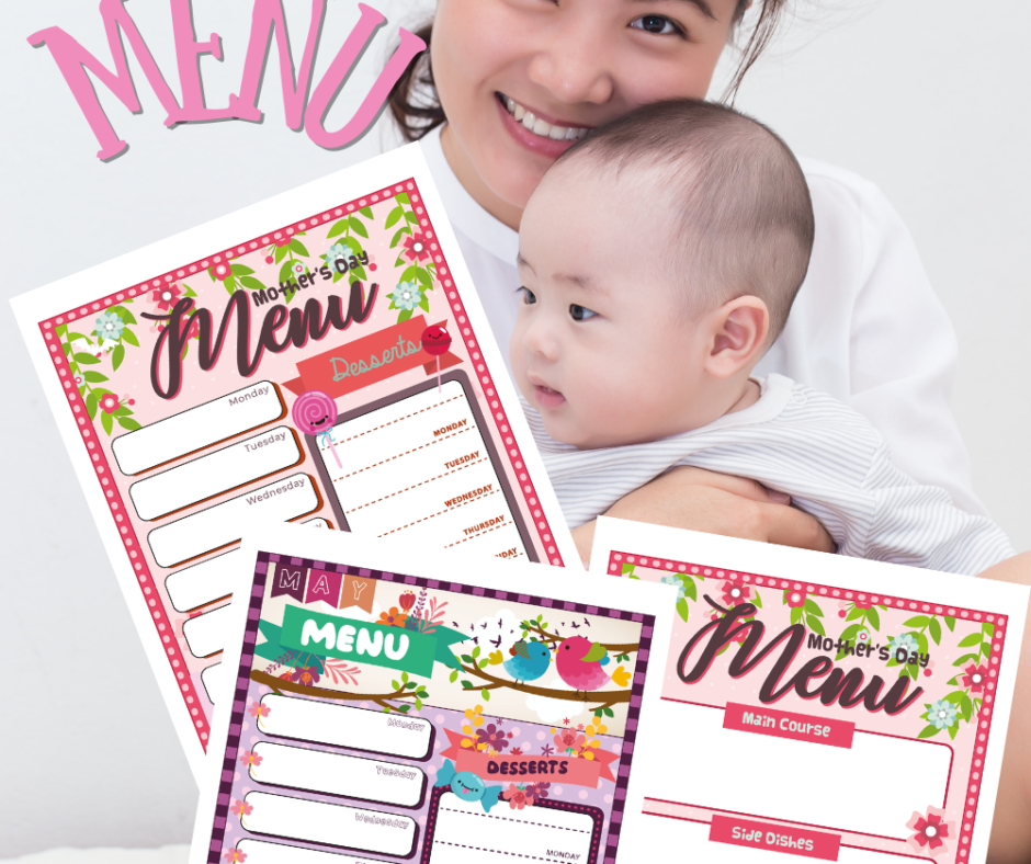 Mothers Day Menu Printables For A Mother's Day Feast