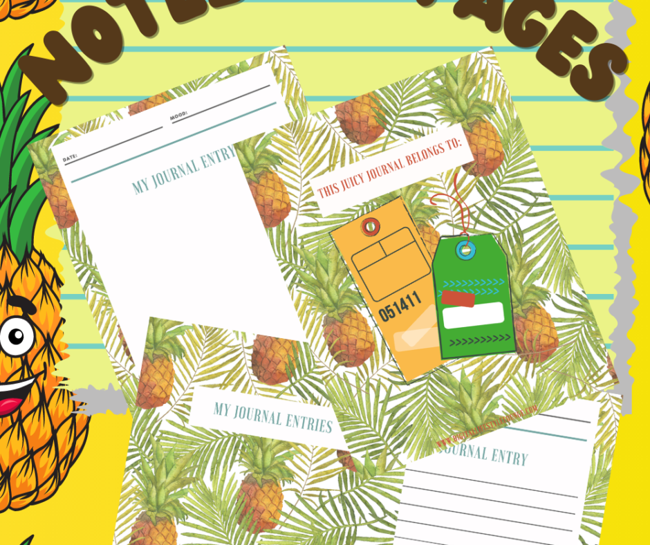 Pineapple Notebook Pages For Super Fun Fruit Planning