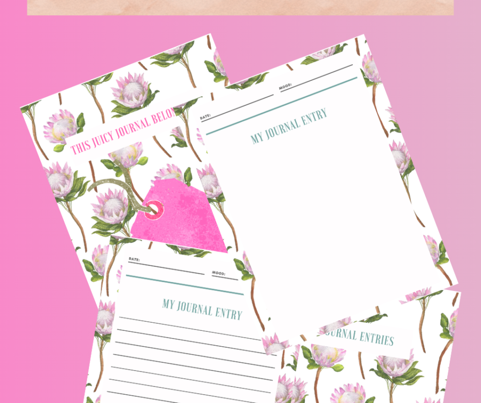 The Floral Notebook For Your DIY Notebook-Making Sessions