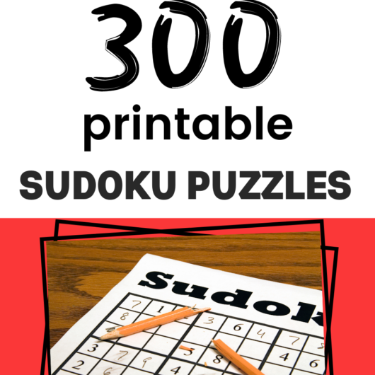 300 Free Printable Sudoku Puzzles For Your Family