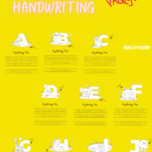 ABC Handwriting Pages