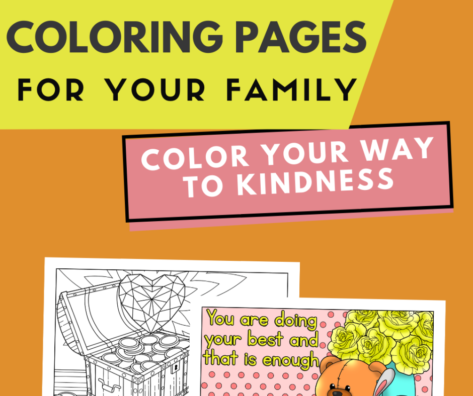 Kindness Coloring Postcards For Your Family