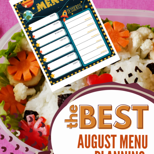 August Meal Planner Page