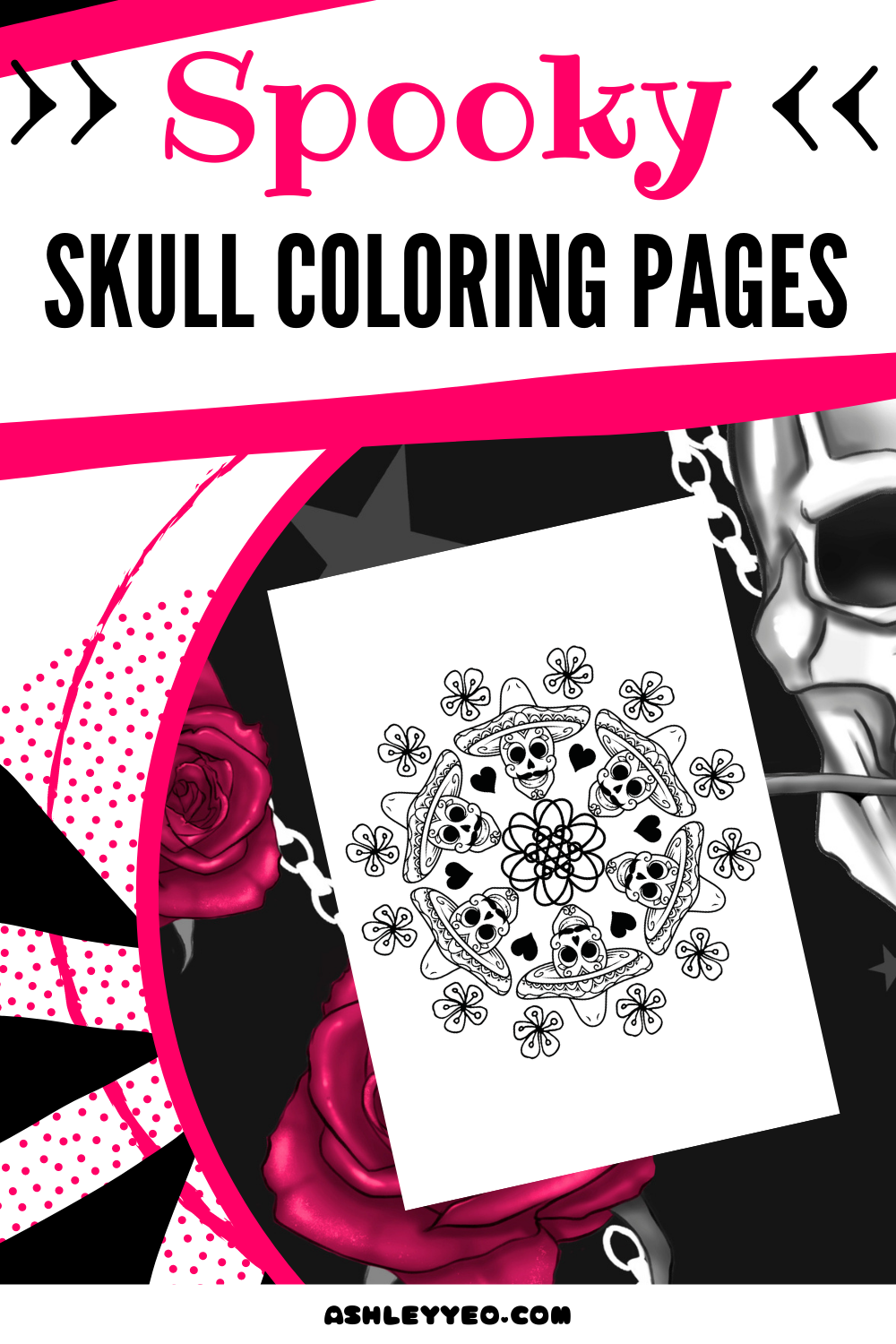 Spooky Skull Coloring Pages
